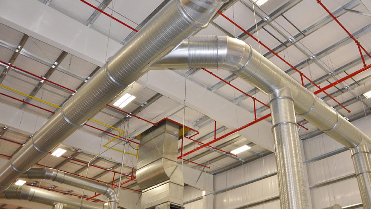 Installation de circuit ventilation